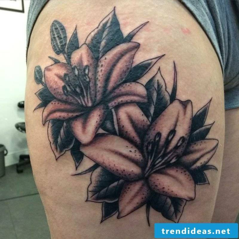 Lilies tattoo ideas and inspirations