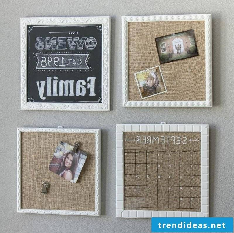 Make memoboard yourself out of wood