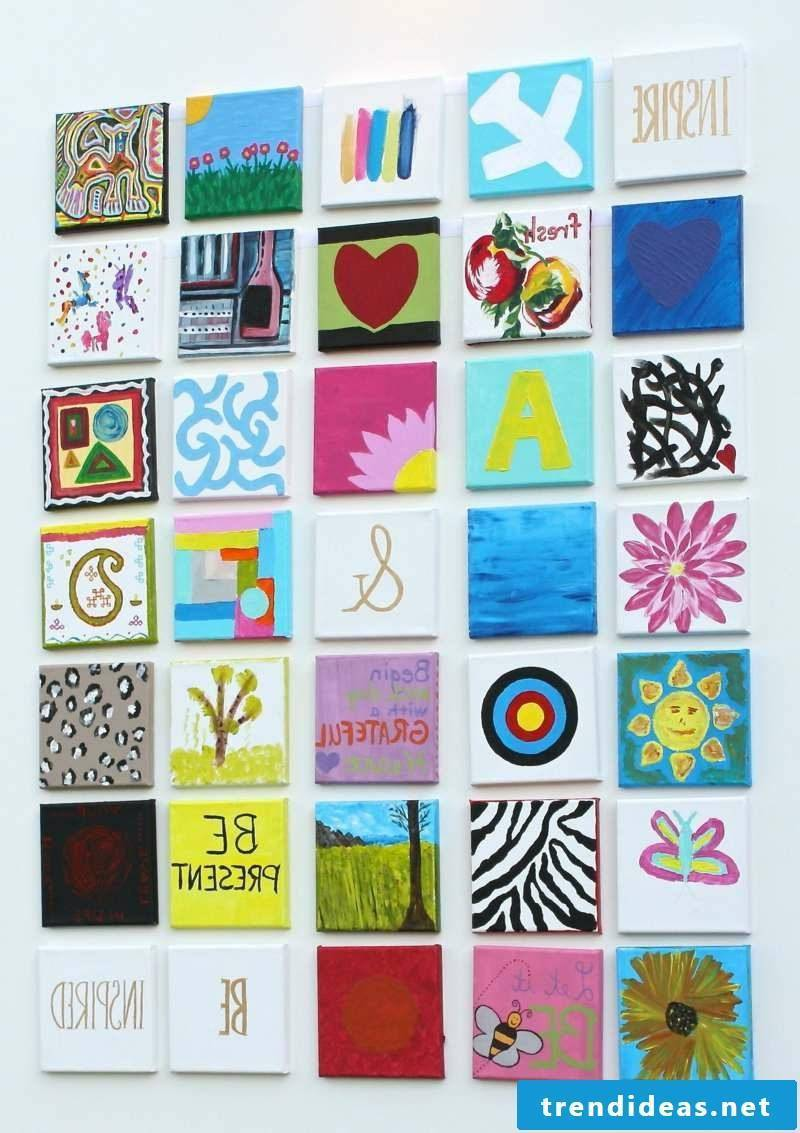 Canvas for painting patchwork creative DIY ideas
