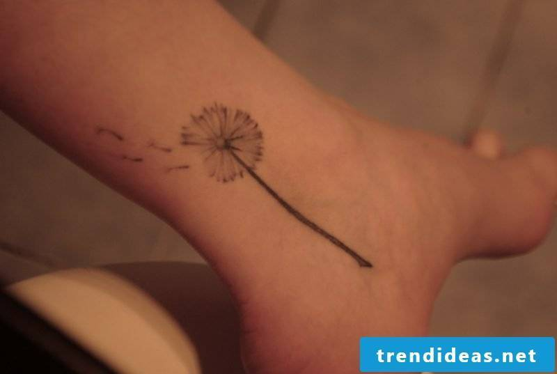 tattoo dandelion template foot