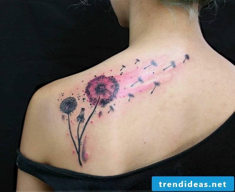 tattoo blowball colorful