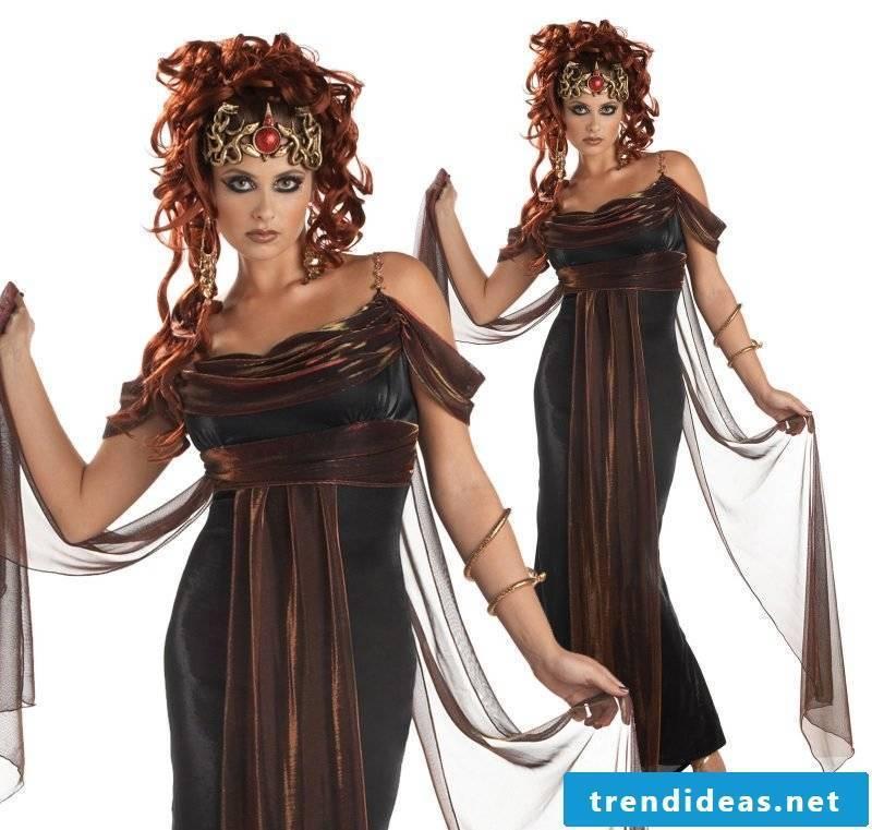 medusa costume black