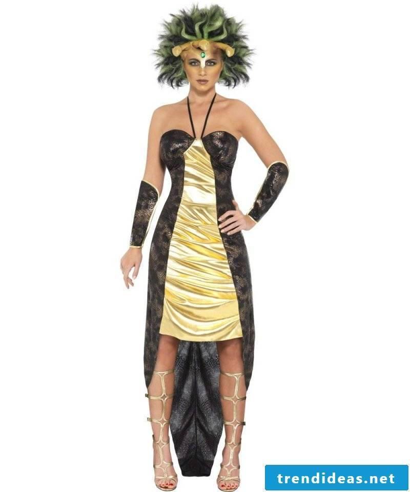 medusa costume gold