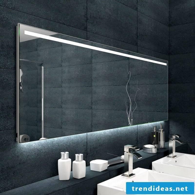 designer mirror black