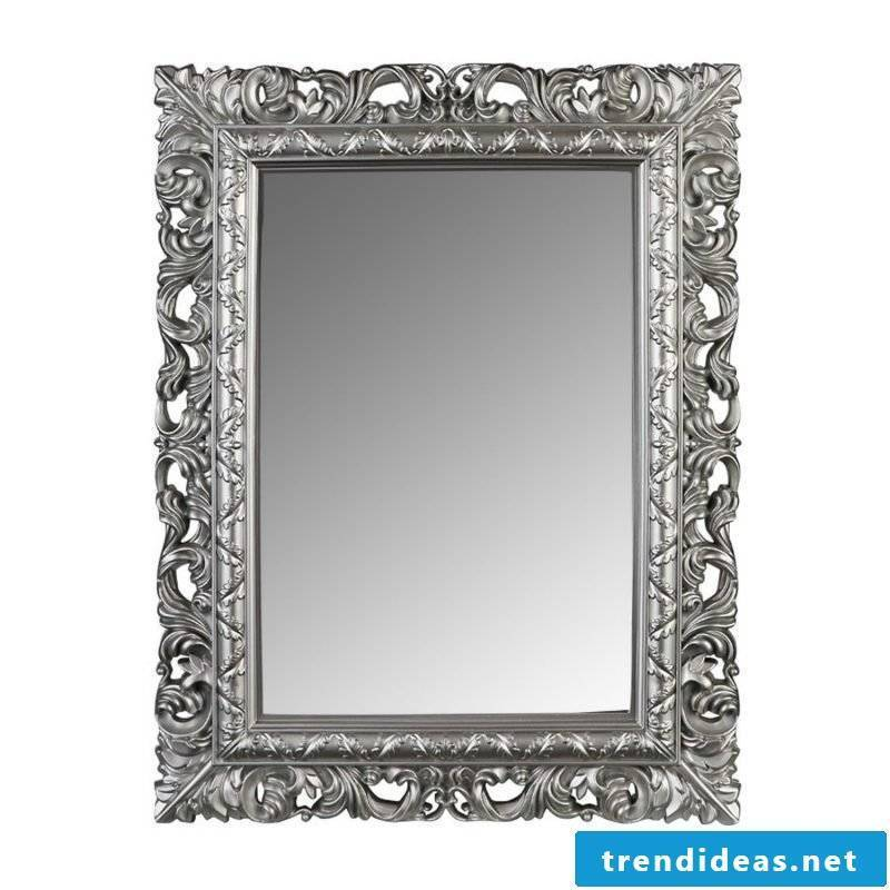 designer mirror silver