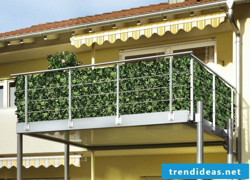 Balcony border grass