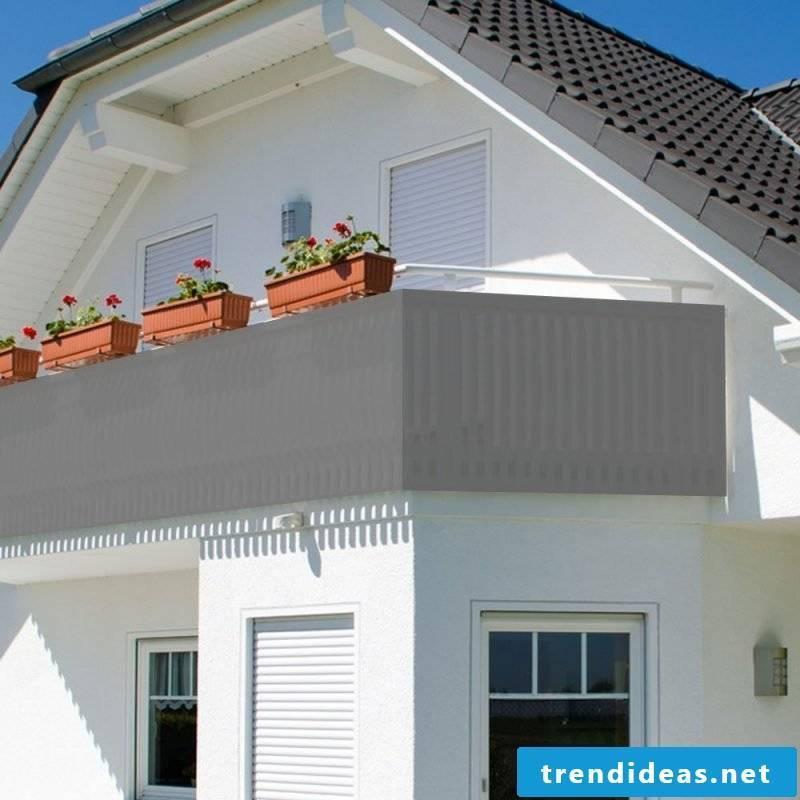 Balcony border fabric