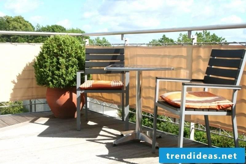 Balcony surround privacy screen