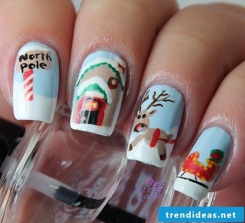 Nails Christmas: North Pole