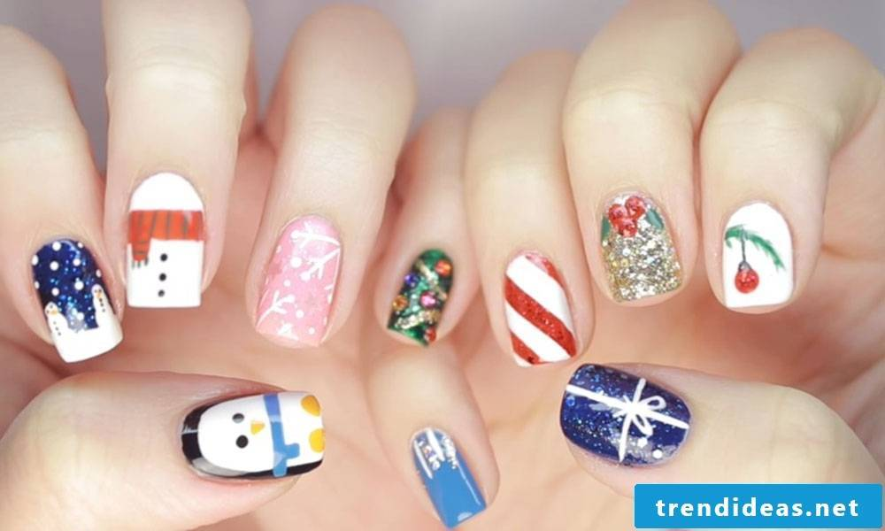 Pictures DIY instructions for christmas nails