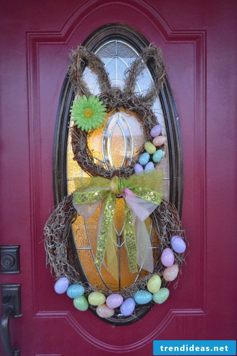 diy decoration easter easter decoration itself make easter wreath with bunny ideas