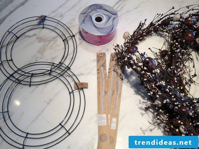 diy decoration easter osterdeko make yourself easter wreath with bunny instruction materials