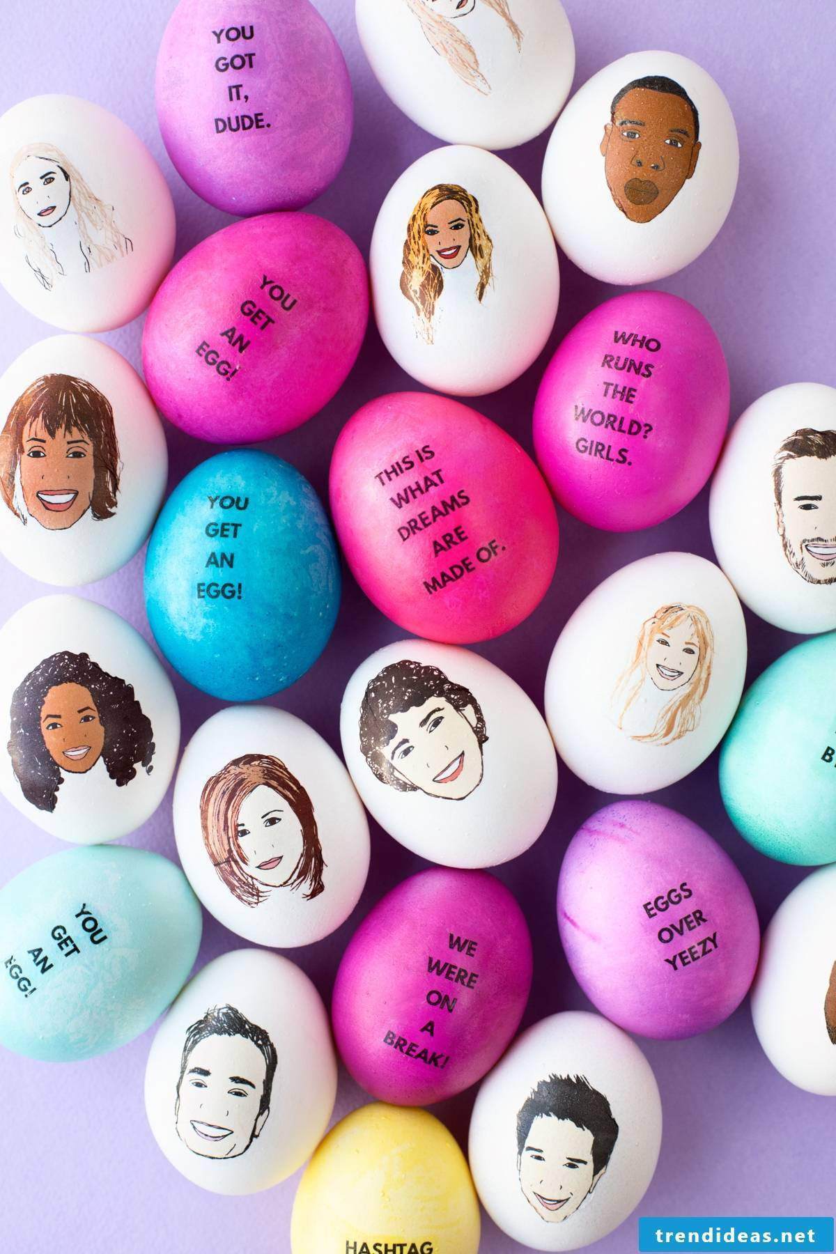 Paint easter eggs - celebrity faces
