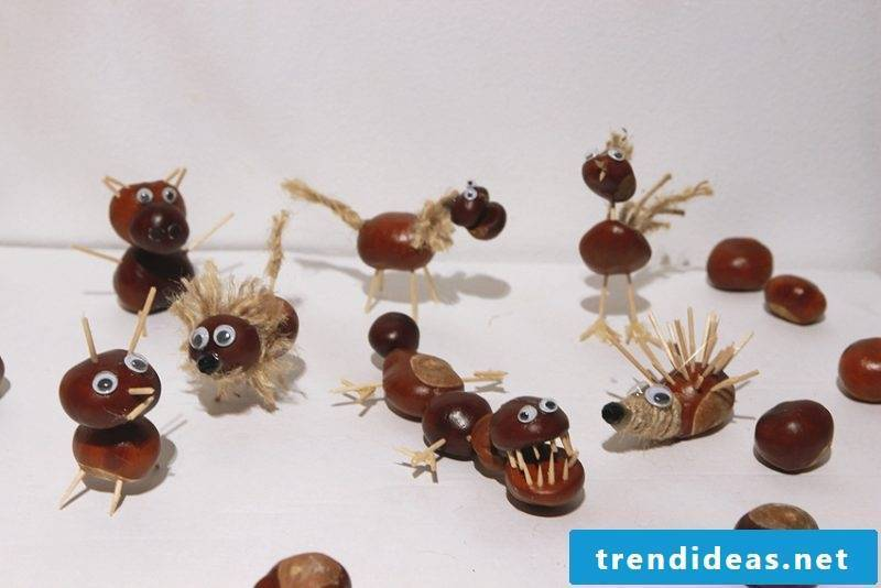 Make chestnut men and create funny toys