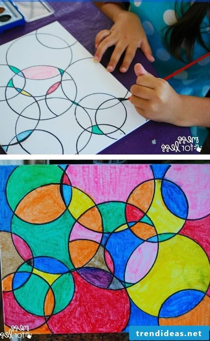 Painting helps children's development