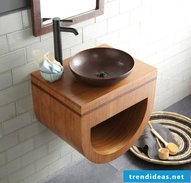 Washbasin made of bamboo dream baths