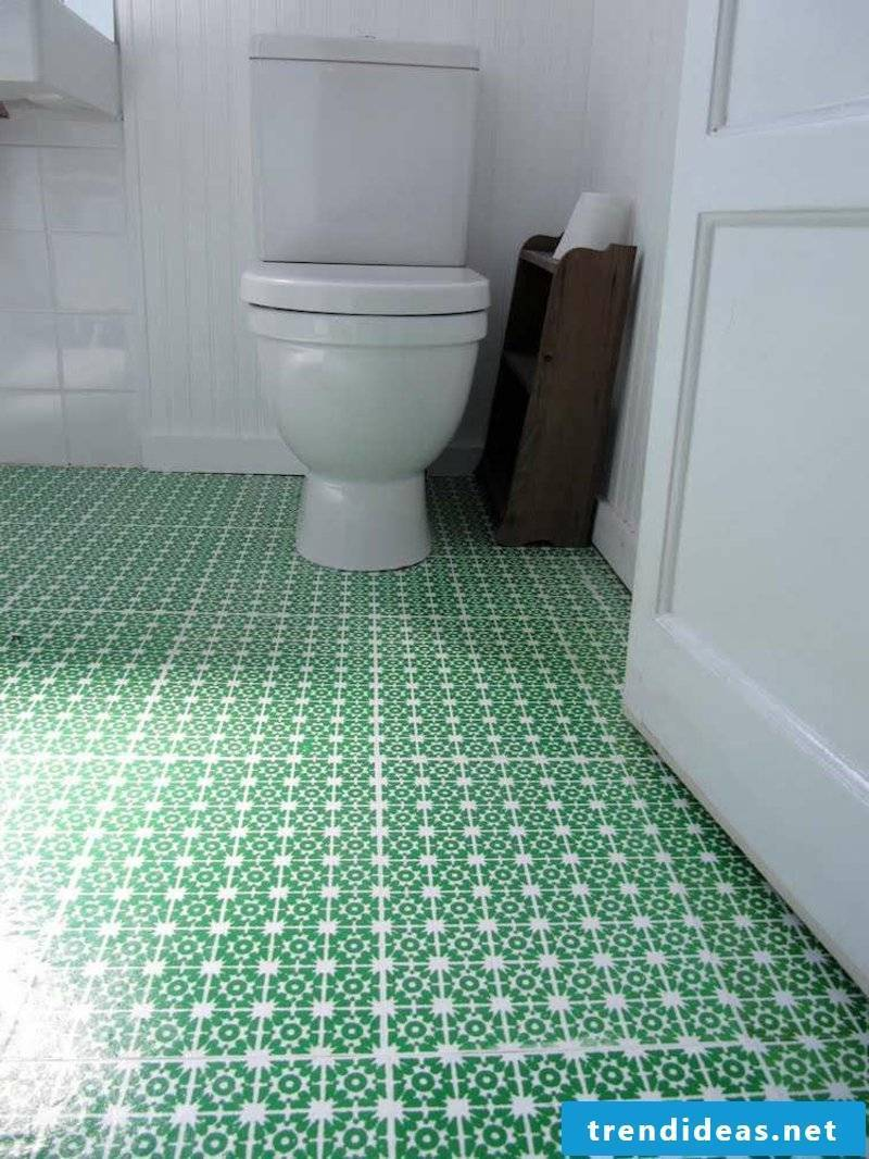 Linoleum as a floor covering