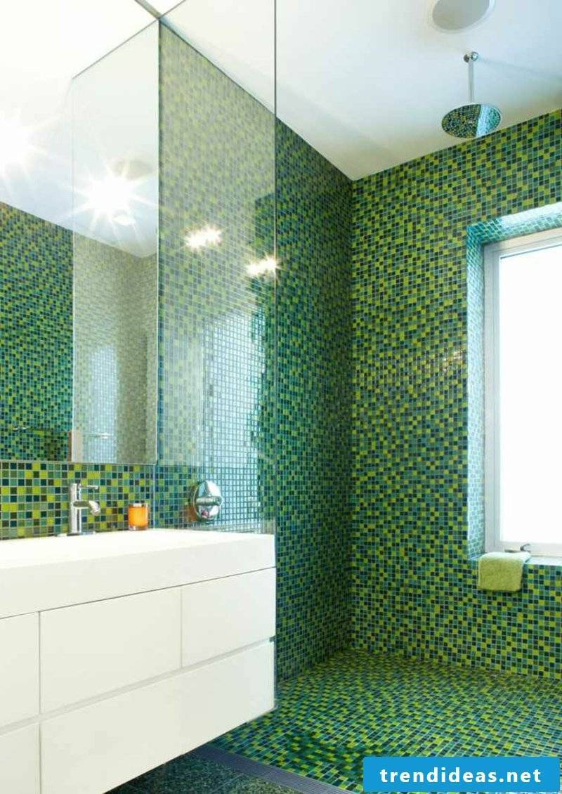 Mosaic tiles in the green
