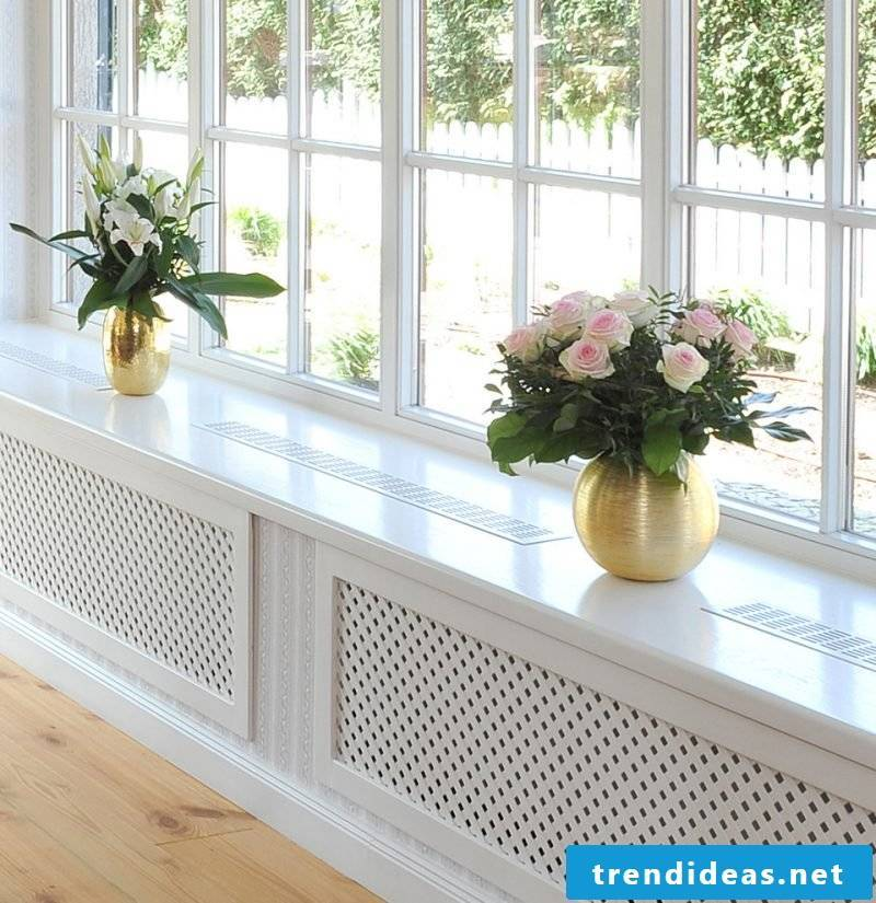 Radiator cladding in country style