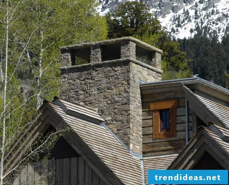 Dressing up the chimney: moving the chimney beautifies the façade