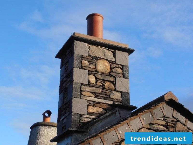 Dress the chimney: cladding with natural stone