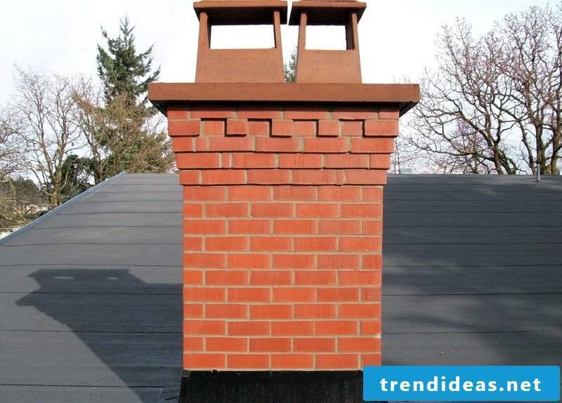 How can you dress up the chimney yourself?