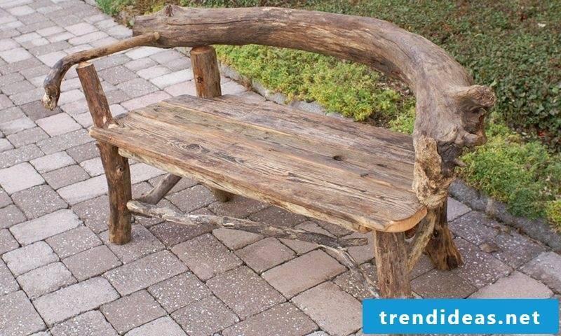 Driftwood furniture bench