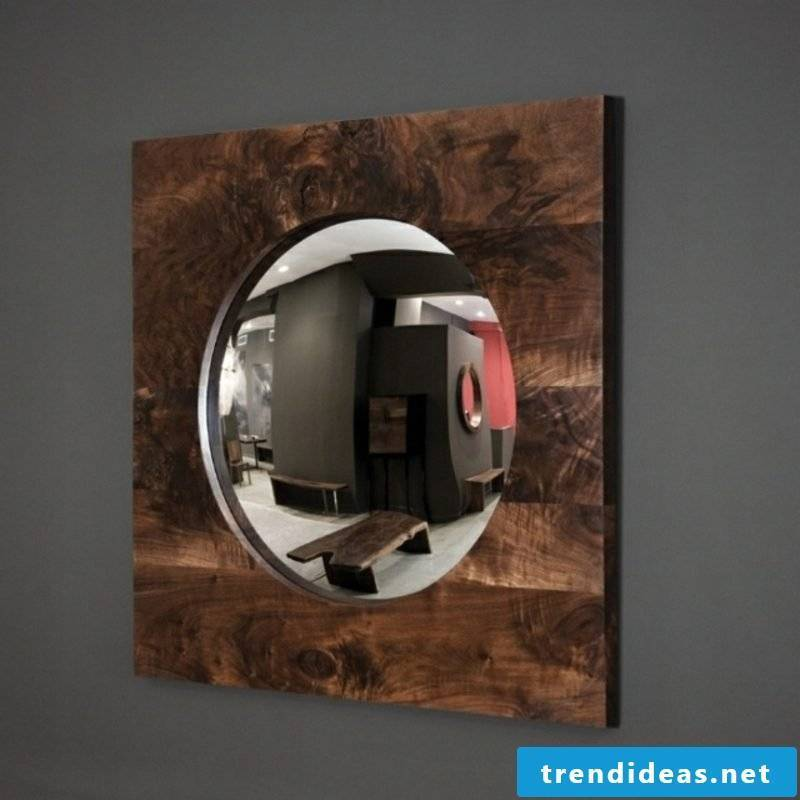 Driftwood furniture mirror frame