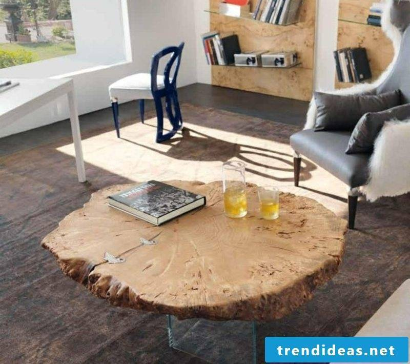 Living room design driftwood furniture coffee table