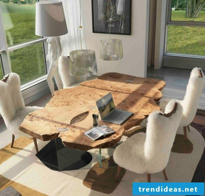 Driftwood furniture dining table