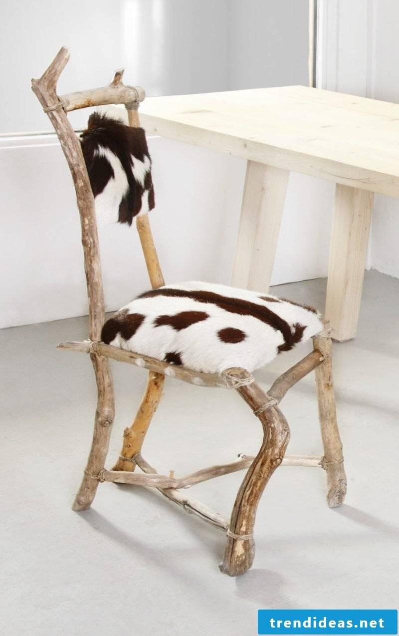 Driftwood furniture chair