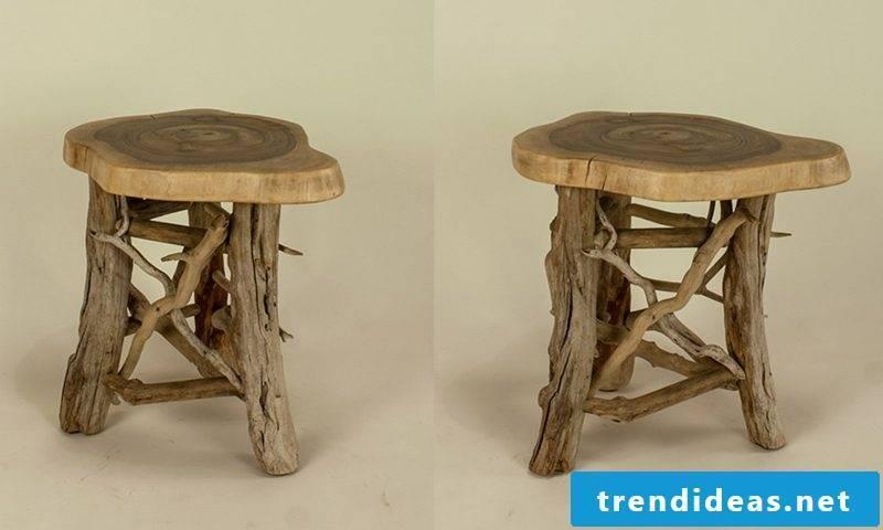 Driftwood furniture stool