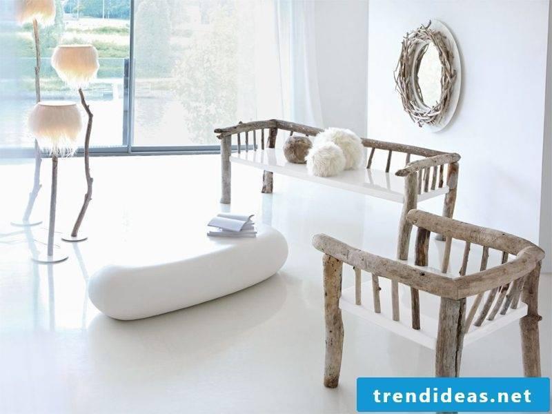 Driftwood furniture design ideas