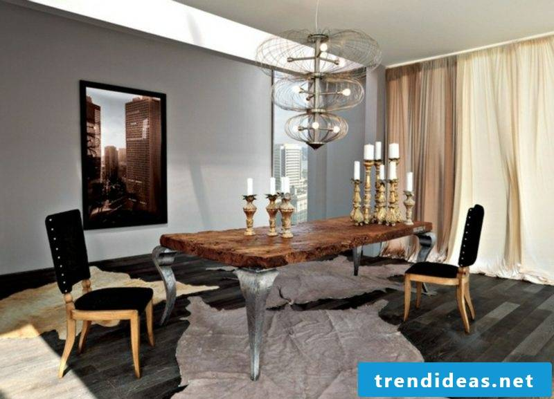 elegant dining table driftwood