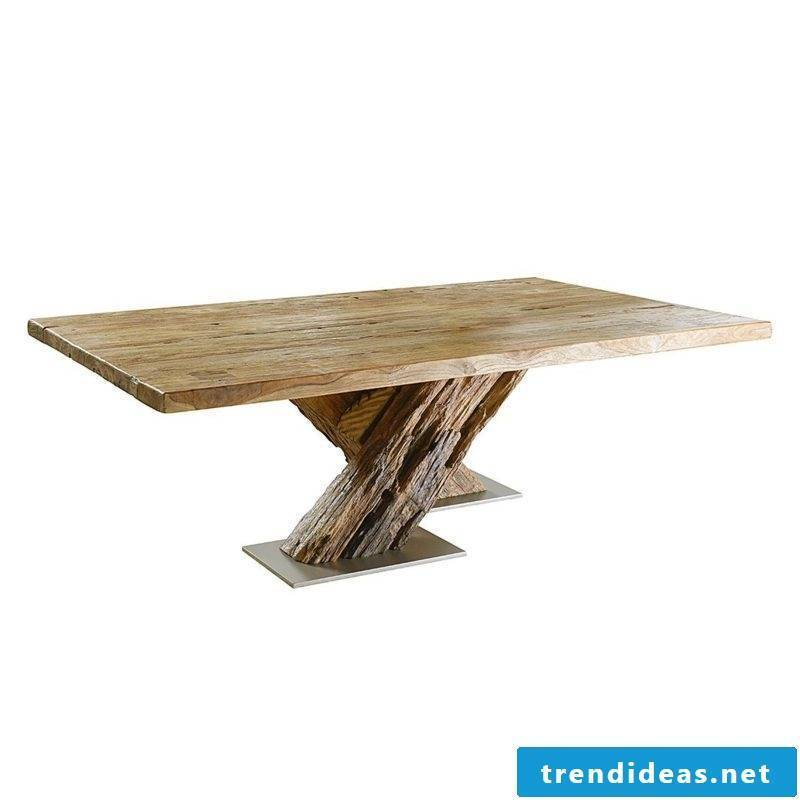 interesting coffee table made of driftwood