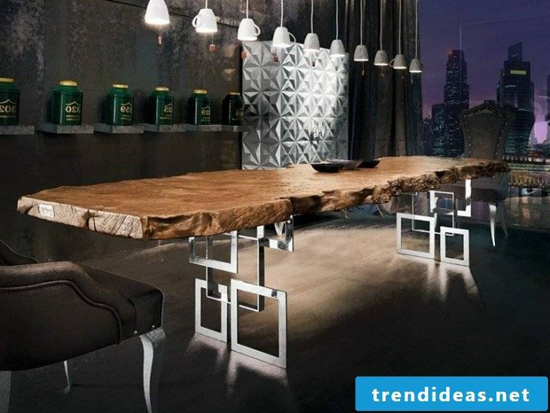 Fancy driftwood dining table