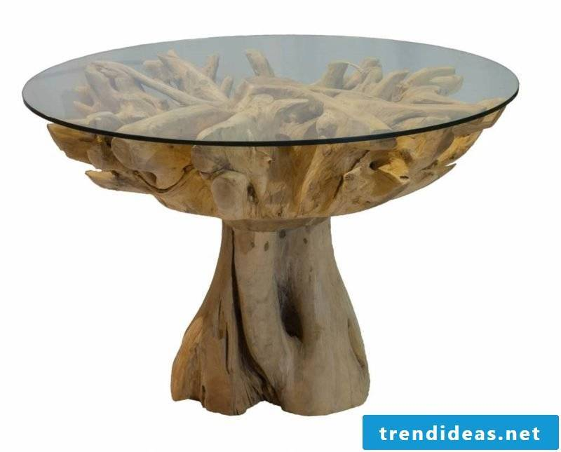 original coffee table made of driftwood