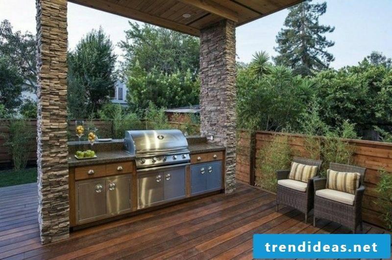 Barbecue modern terrace