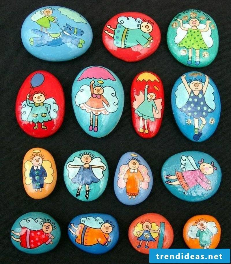 painted stones child fun