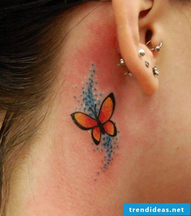 small stylized butterfly tattoo