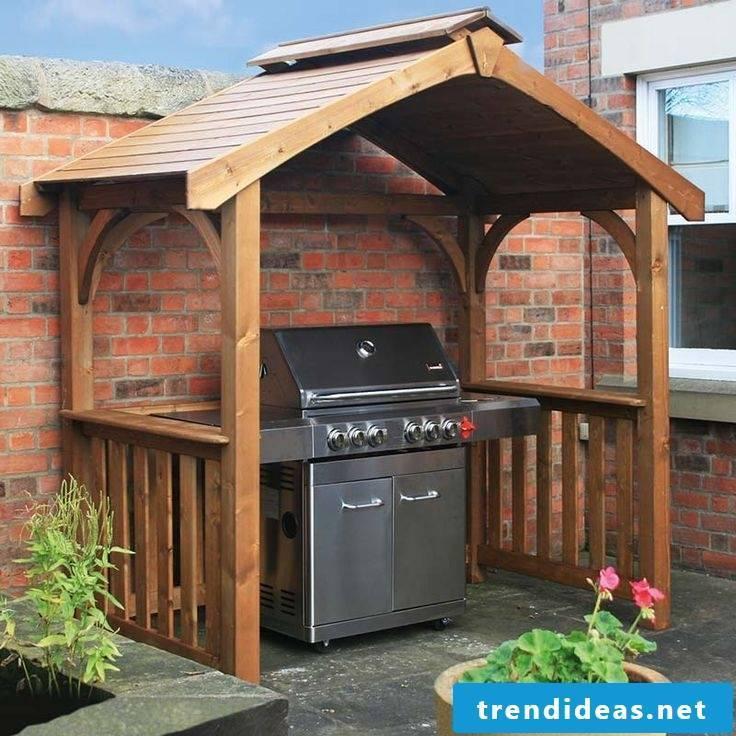 gazebo itself build outside kitchen