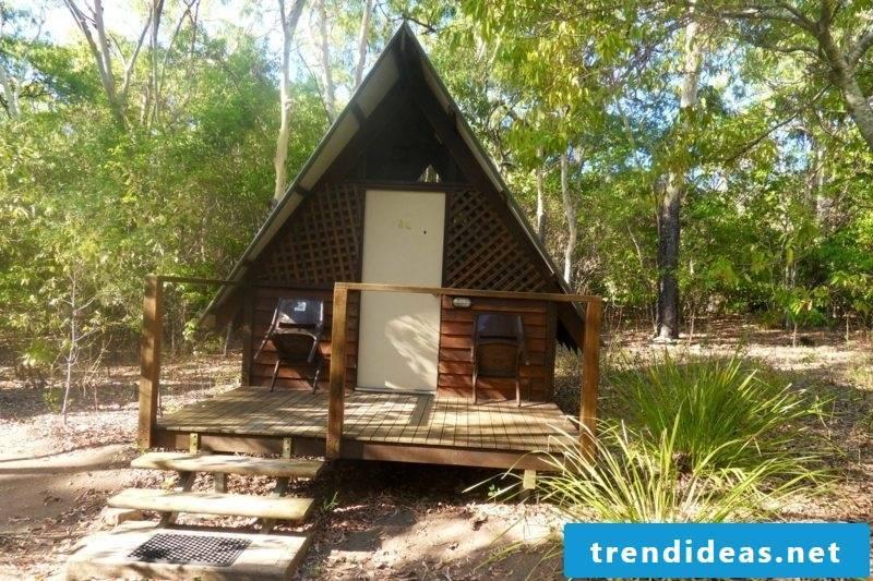 wooden bungalow