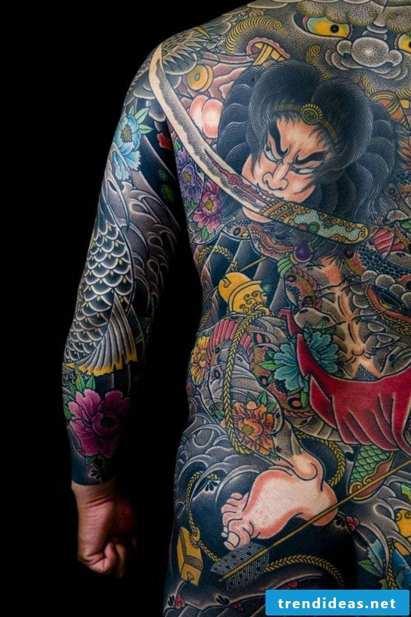 best tattoo Japanese full back tattoo