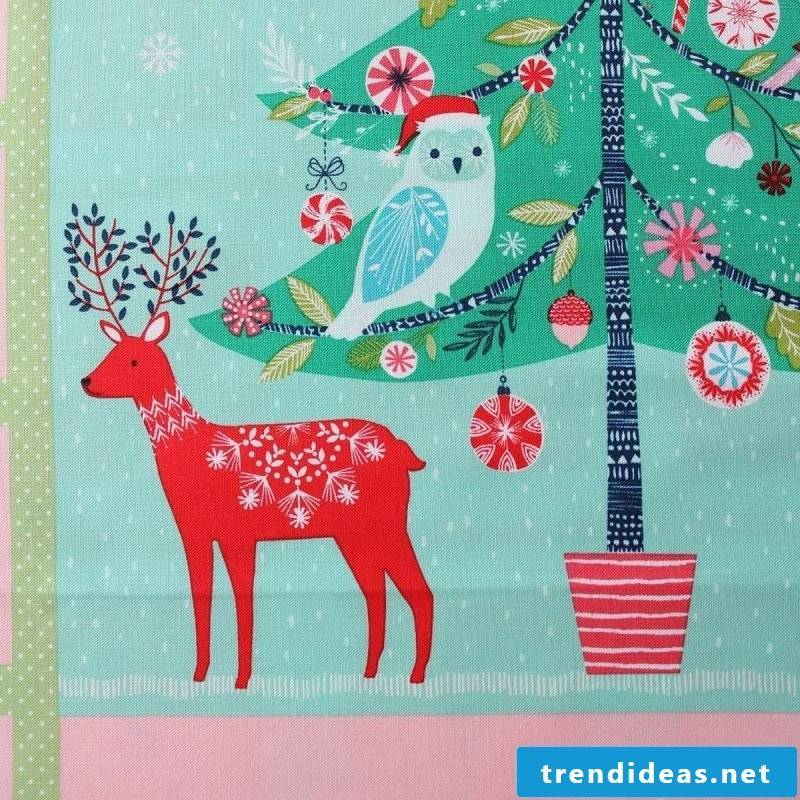 Sewing advent calendars - fabric selection as a first step