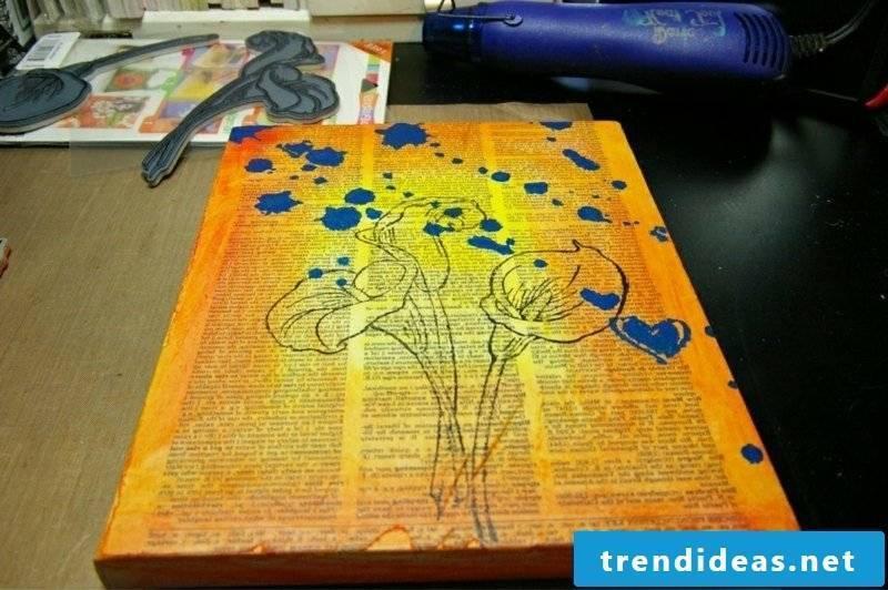 Canvas paint creative ideas