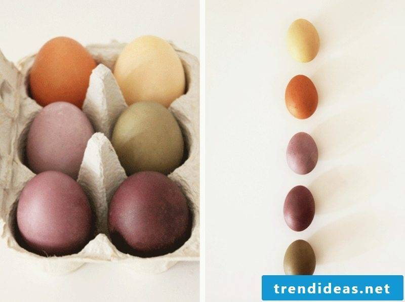 Coloring Easter Eggs Using natural colors to create different nuances