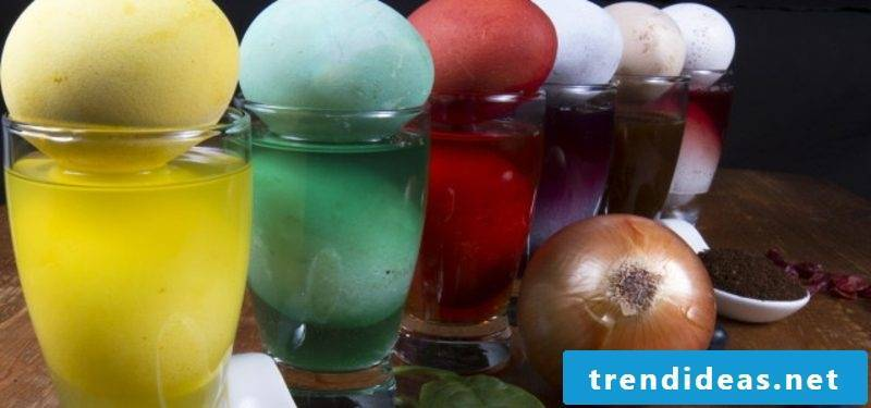 Eggs color natural colors. Easter creative ideas