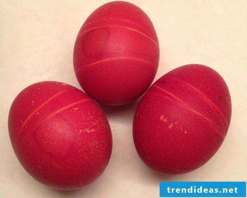 Easter eggs color intense red color