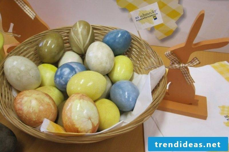 Easter eggs dye with natural colors pastel shades gorgeous look