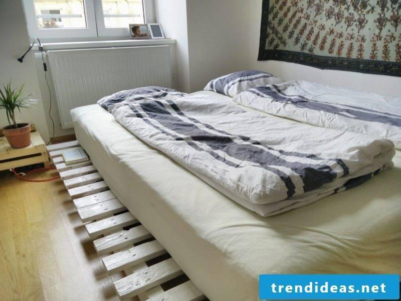 DIY Euro pallets bed